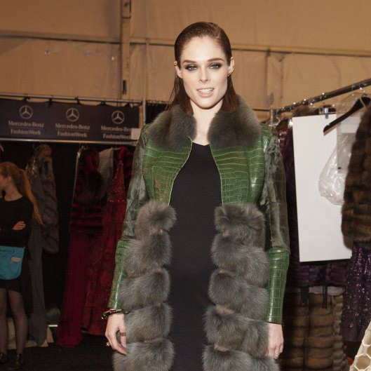 Dennis Basso Fall/Winter 2015-16 backstage & Celebrity Appearances
