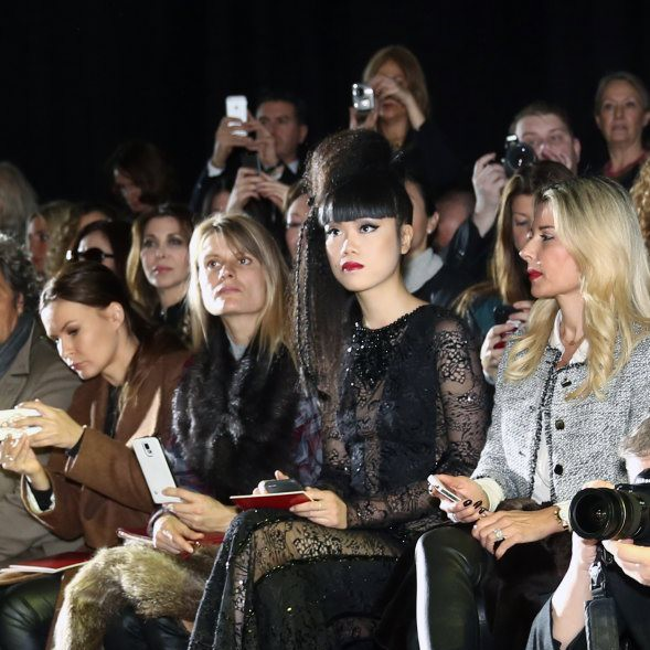Jessica Minh Anh Front Row at Haute Couture Collections