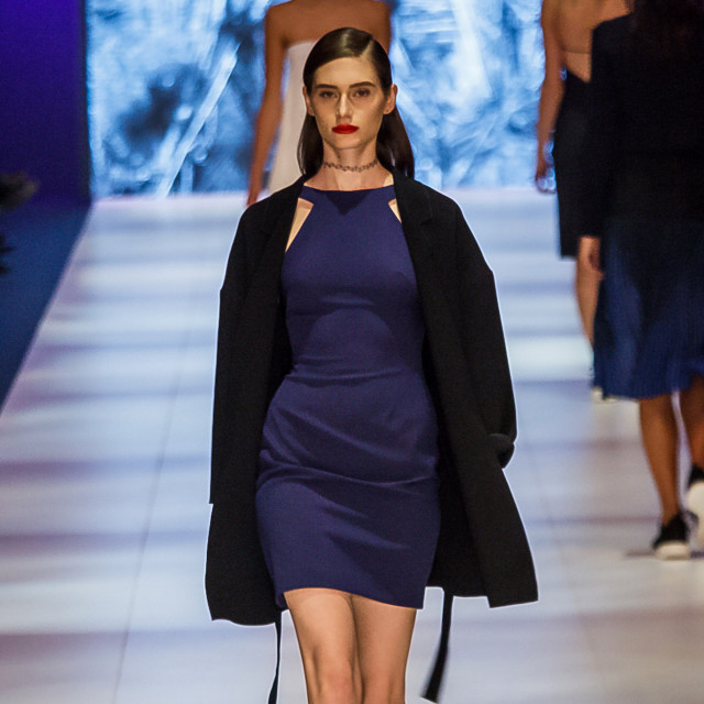 2015 Virgin Australia Melbourne Fashion Festival  Presented by ELLE Australia Supported by Rimmel at Priceline Pharmacy Fashion Label: Dion Lee II  Shoes by: Nike Accessories by: Poms Photographer: Audie de la Pena Editor: Ron Quinones