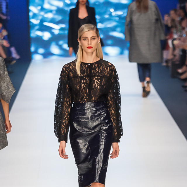 2015 Virgin Australia Melbourne Fashion Festival  Presented by ELLE Australia Supported by Rimmel at Priceline Pharmacy Fashion Label: Bianca Spender Shoes by: Nine West Photographer: Audie de la Pena Editor: Ron Quinones