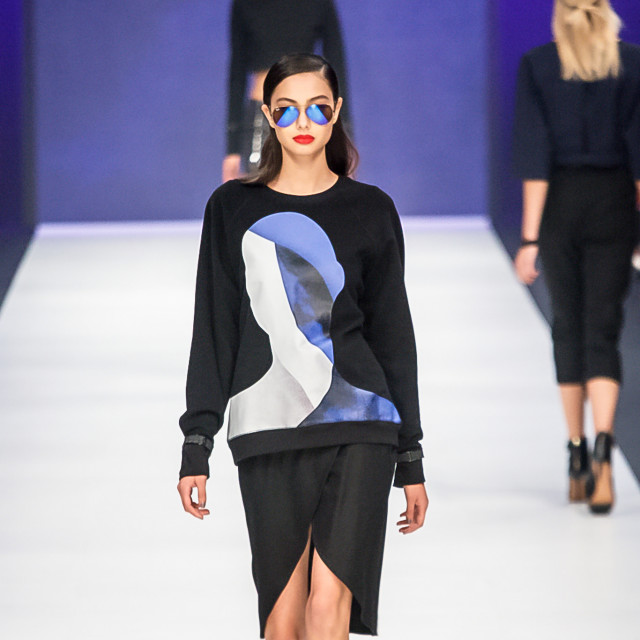2015 Virgin Australia Melbourne Fashion Festival  Presented by ELLE Australia Supported by Rimmel at Priceline Pharmacy Fashion Label: Kahlo Shoes b: Nine West Accessories by: Equip/OPSM Photographer: Audie de la Pena Editor: Ron Quinones