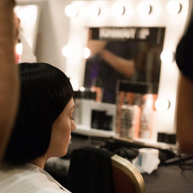 Xiao Li AW15 backstage