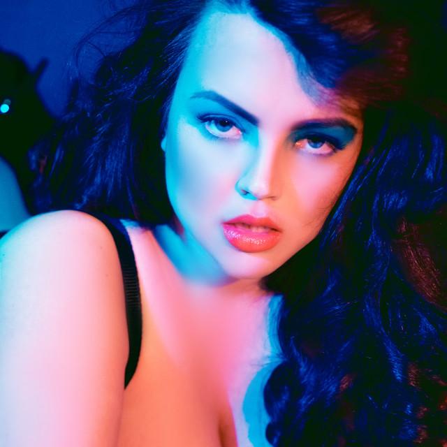 Black bra: Freya Stockings/Garter: The Big Tights Company