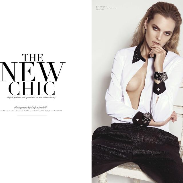 Blouse: Steffen Schraut  Trouser: Stella McCartney by Mytheresa.com  Bracelets: Chanel