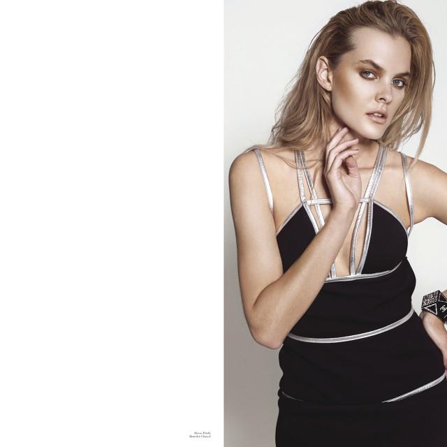 Dress: Prada  Bracelet: Chanel