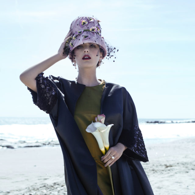 Dress N oon by Noor, coat Noon by Noor, Hat Anya Caliendo, jewelry Solomeina   model - Caitlin Ricketts @Wilhelmina  make-up artist - Sofi Chernyak @sofichernyak  hair stylist - Monae Everett @monaeartistry  style - Stefaniya Chekalina @chekalina  photographer - Ekaterina Belinskaya @avine_