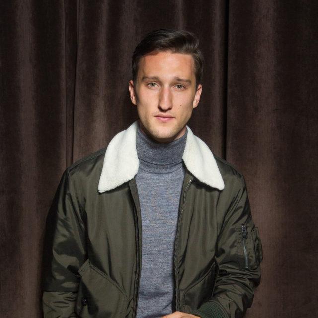 Marcel Floruss in HUGO BOSS at the BOSS Menswear Fall/Winter 2017 collection presentation