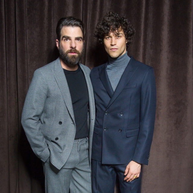 Zachary Quinto in HUGO BOSS & Miles McMillan in HUGO BOSS at the BOSS Menswear Fall/Winter 2017 collection presentation
