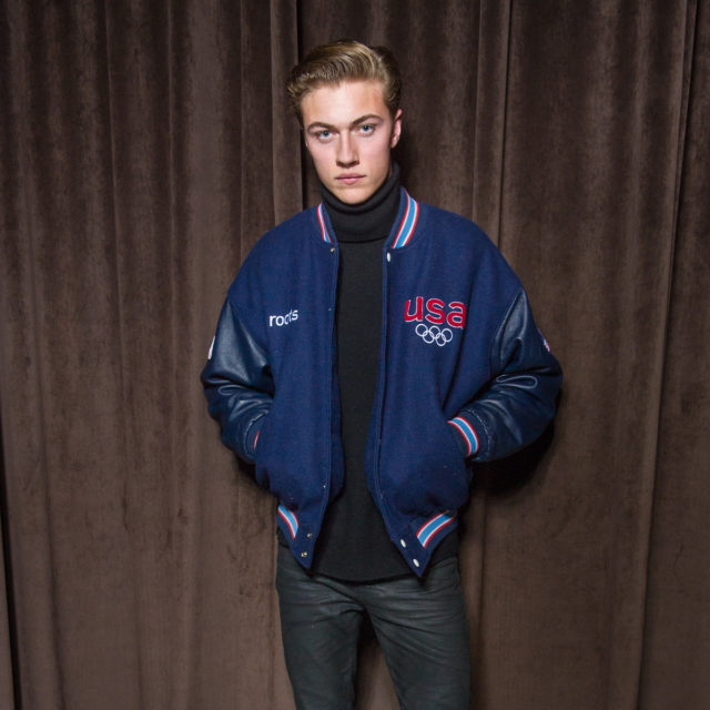 Lucky Blue Smith in HUGO BOSS at the BOSS Menswear Fall/Winter 2017 collection presentation