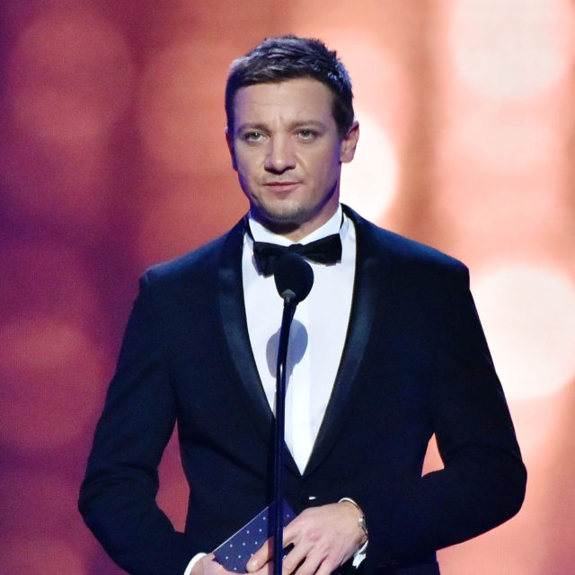The 22nd Annual Critics' Choice Awards - Show SANTA MONICA, CA - DECEMBER 11: Jeremy Renner speaks onstage during the 22nd Annual Critics' Choice Awards at Barker Hangar on December 11, 2016 in Santa Monica, California. (Photo by Jerod Harris/WireImage)