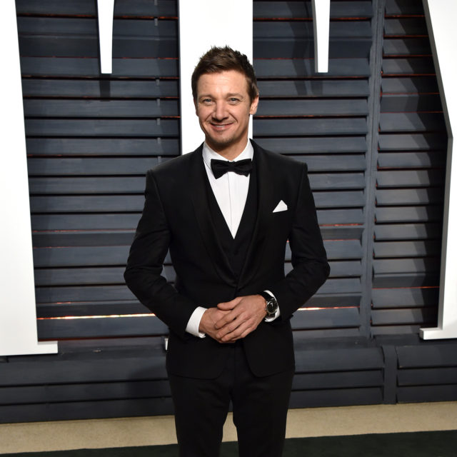 Jeremy Renner in Hugo Boss at the 2017 Vanity Fair Oscar Party